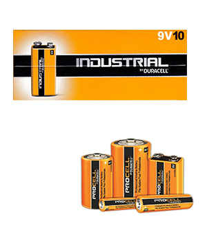 Duracell Procell Alkaline 9v (Box of 50)
