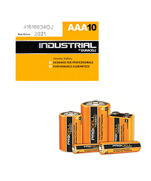 Duracell Procell Alkaline AAA (Box of 100)