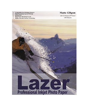 Lazer Matt Paper 128GSM Pack of 100