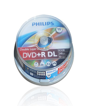 Phillips DVD+R Double Layer - 10 Spindle