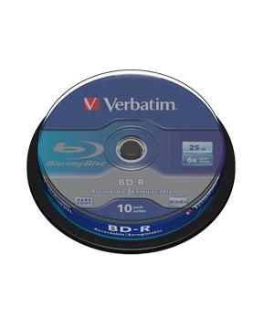 Verbatim Bd R Sl 25gb 6x Printable 10 Spindle Total