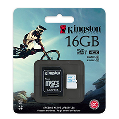 Kingston 16GB Micro SDHC Memory Card Class 10 UHS-1 U3