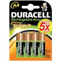 Duracell Rechargeable 'AA' 2000mah - 4 Pack
