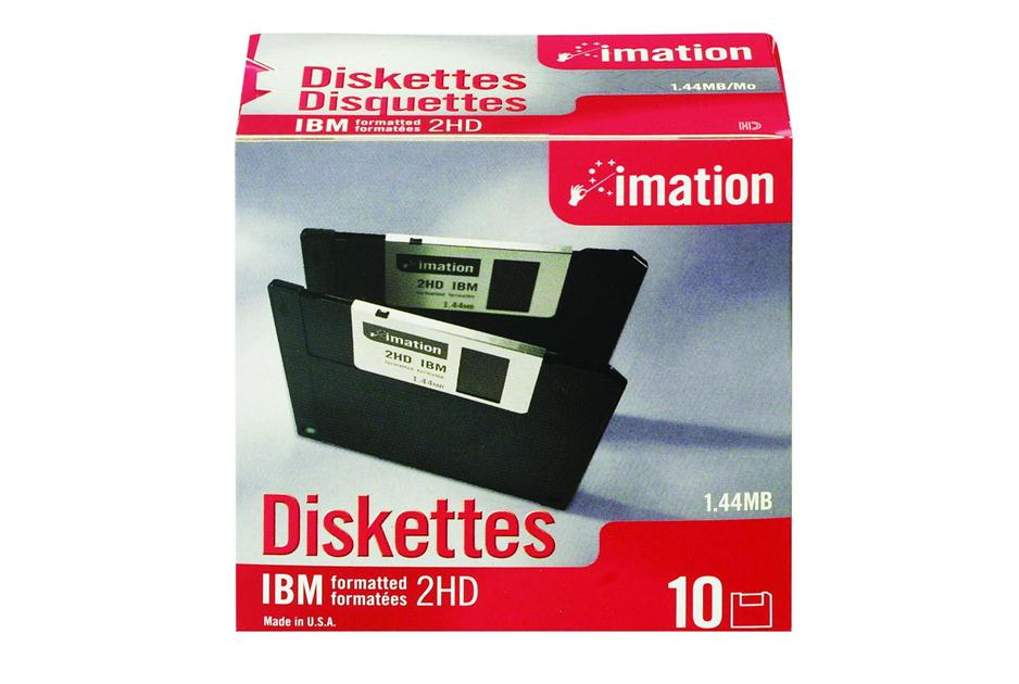 1.44 MB IBM formatted Floppy Diskette (pack of 10)