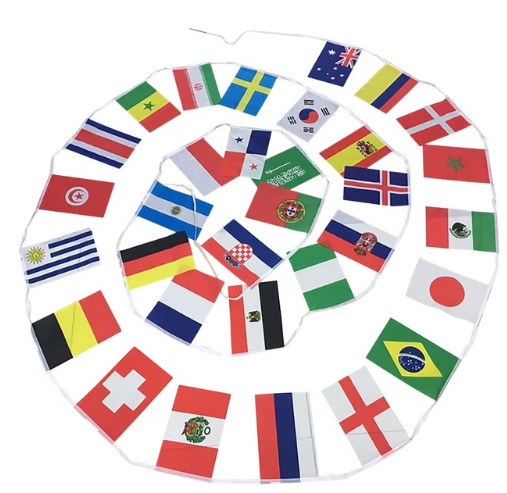 32 Football World Cup Bunting Flag