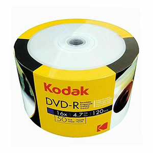 KODAK DVD-R (16x) - 50 Shrink Wrap - Full Face White Printable