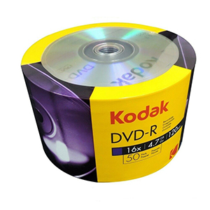 KODAK LOGO DVD-R (16x) - 50 Shrink Wrap - BRANDED