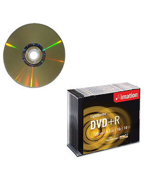 Imation DVD+R Lightscribe slim case-10 pack