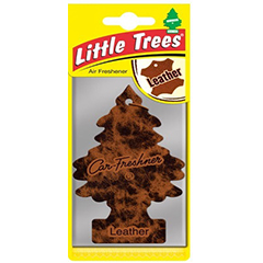 2D Little Trees Car Air Freshner Leather