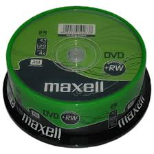 Maxell DVD+RW 4.7Gb (4x) - 25 Spindle