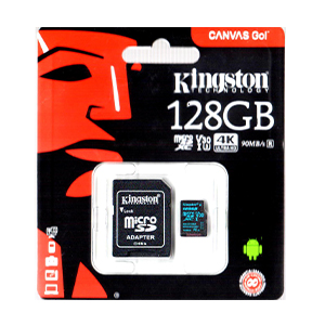 Kingston 128GB Micro SDXC Memory Card Class 10 Silver Edition