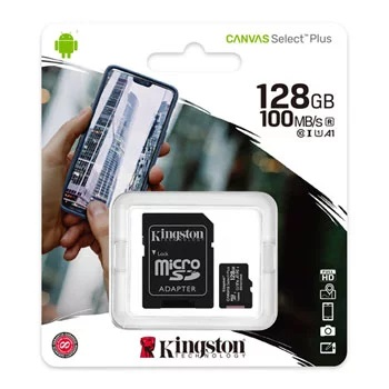 Kingston 128GB Micro SDXC Memory Card Class 10