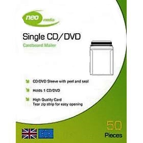 Cardboard Mailer for CD/DVD disc  (50 pack) - Neo