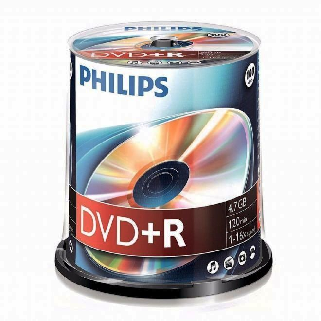 Philips DVD+R (16x) 100 spindle