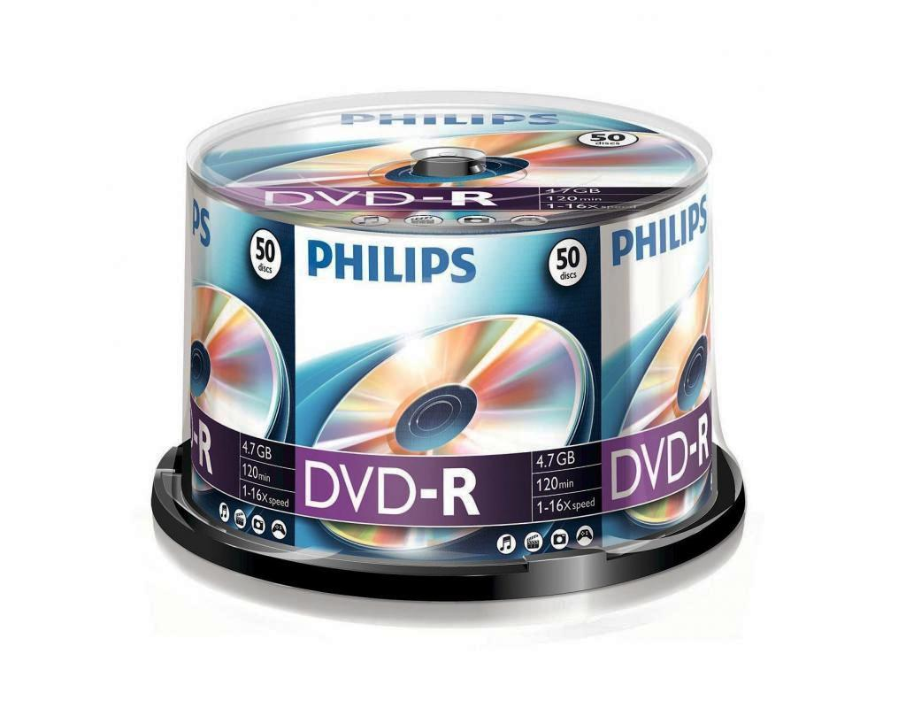 Philips DVD-R (16x) 4.7GB - 50 spindle