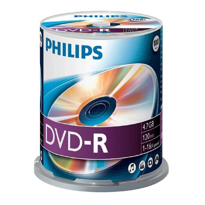 Philips DVD-R (16x) 4.7GB - 100 spindle