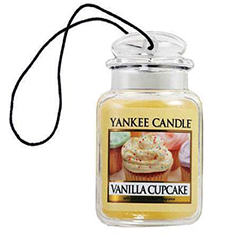 2D Yankee Candle Car Air Freshner Vanilla Cupcake