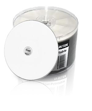Ritek CD-R80 (52x) Full Face White Printable - 50 Shrink Wrap