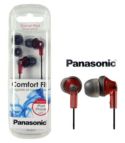 Panasonic COMFORT FIT Stereo Earphones (Red)