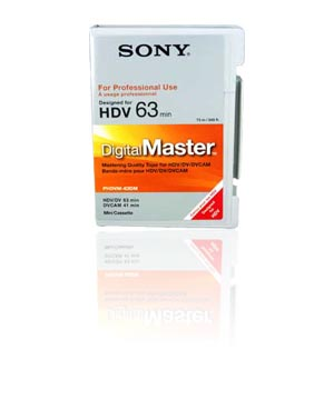 Sony DVM HD DV Pro Digital Video Tape - 63Min