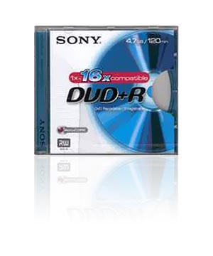 Sony DVD+R (16x) - 10 Jewel Case