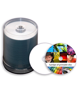 Taiyo Yuden CD-R80 (52x) Everest Printer White Printable - 100 S