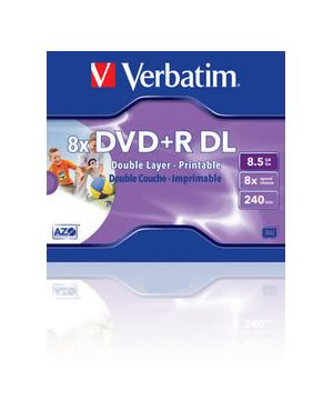 Verbatim DVD+R 8.5gb Double Layer Printable (8x) Single Price