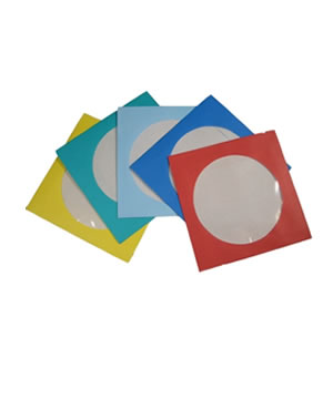 Disk Sleeves - Paper in 5 colours - 100 Pack