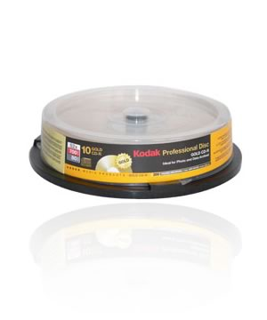 Kodak CD-R80 (52X) 200 Years Gold Archive Grade -10 Spindle