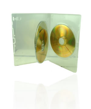DVD Case - Amaray Premium Clear Holds 3 Disks