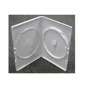 DVD Case - White holds 2 disks
