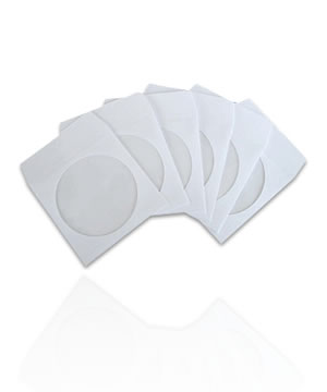 Disk Sleeves - Paper / Clear Window - 100 Pack