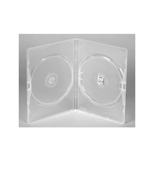 Slim Clear DVD Case Holds 2 (7mm)