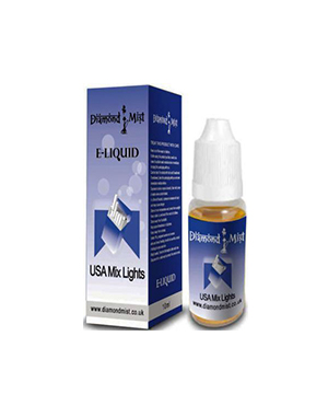 Diamond Mist USA Mix Light Tobacco 10ml/12mg E-Liquid Herbal Shi