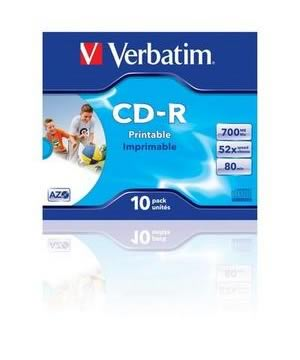 Verbatim CD-R80 (52x) Printable -10 pack