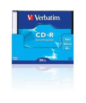 Verbatim CD-R80 (52x) - 20 Pack Slim Case