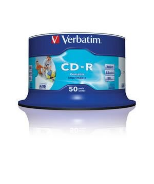 Verbatim 'Super Azo' CD-R80 (52x) printable no id - 50 Spindle