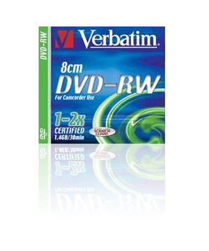 Verbatim DVD-RW 8cm-30 min (1-2x) single price