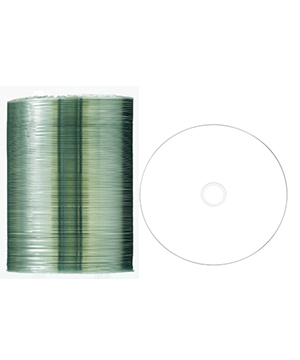 Taiyo Yuden CD-R80 White Printable (52x) - 100 Shrink Wrap